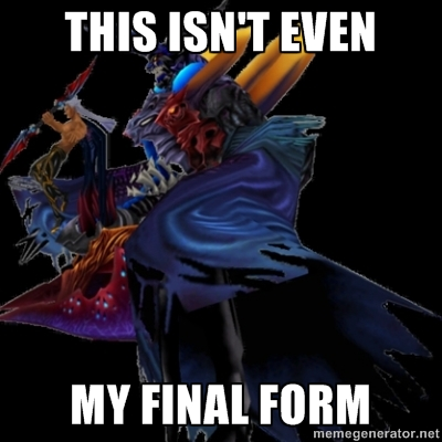 "Ansem final boss fight with caption ""This isn't even my Final Form"""