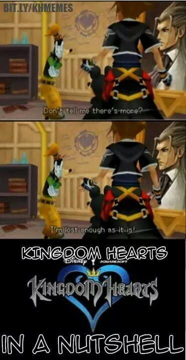 Kingdom Hearts in a nutshell is confusing