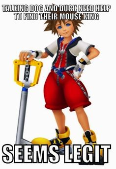 "Sora with caption ""Talking dog and duck need help to find their mouse king. Seems legit."""