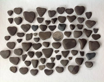 Lots of heart shaped rocks