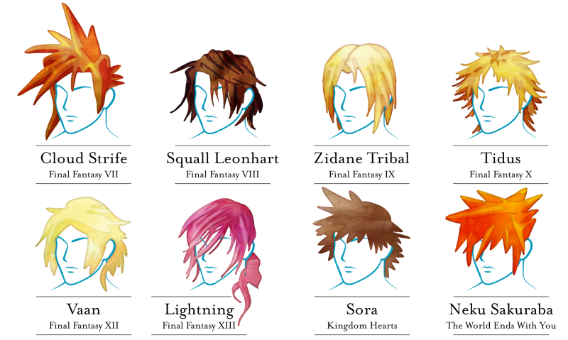 Final Fantasy Hairstyles