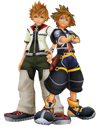Sora and Roxas Kingdom Hearts 2