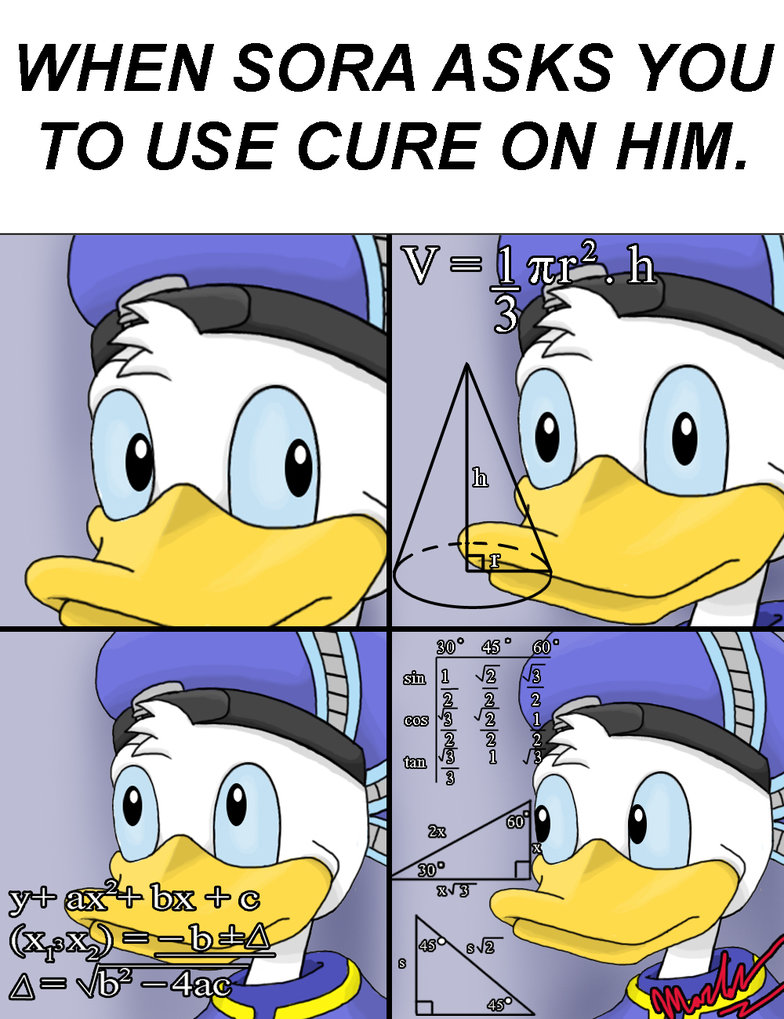 Donald Calculating Whether to Use Cure