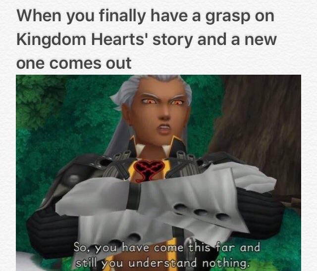 Kingdom Hearts Ansem You understand nothing