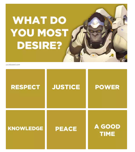 What do you most desire? Overwatch