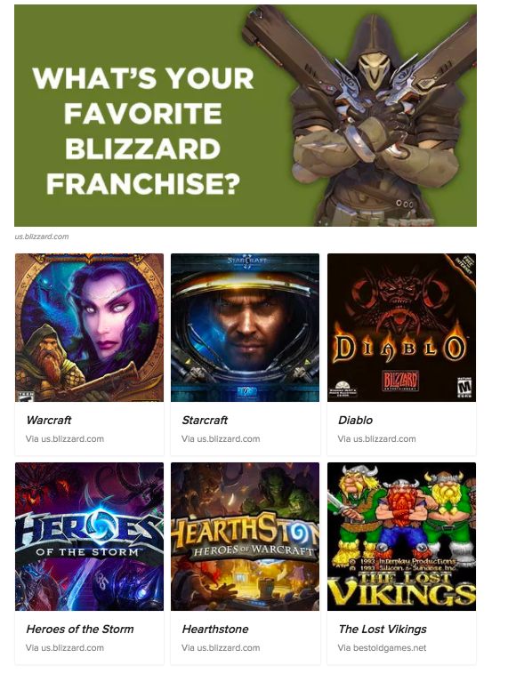 What's Your Favorite Blizzard Franchise? Overwatch
