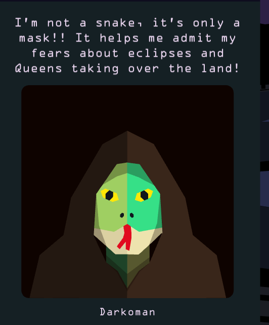 Reigns Her Majesty Snake Man Fears