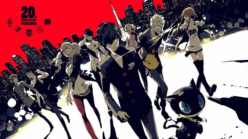 Persona 5, a JRPG fantasy game talked about on video game podcast Talk This