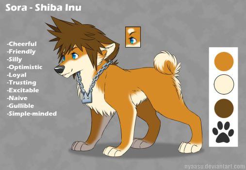Sora as a Shiba Inu Kingdom Hearts 2