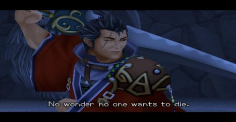 Auron Existentialism No one wants to die Kingdom Hearts 2