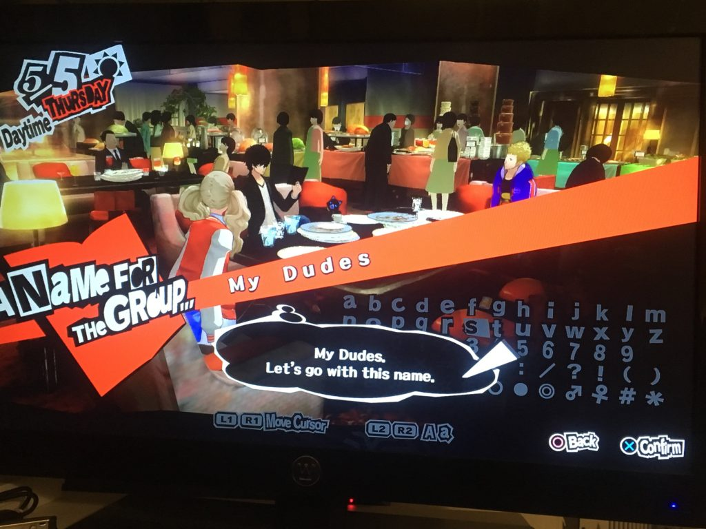 My Dudes Persona 5 team name