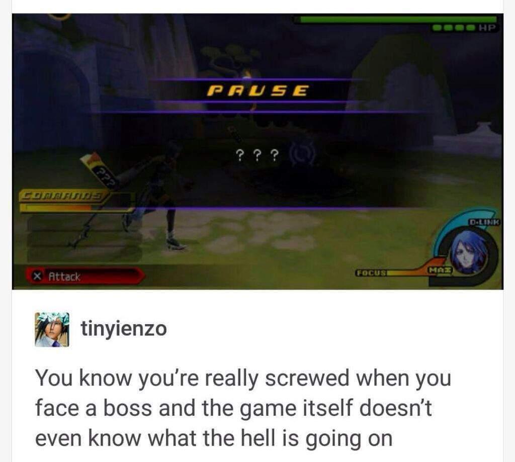 ??? Kingdom Hearts Pause menu meme