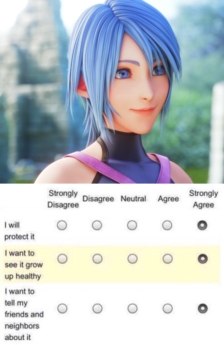 Aqua I will protect it I want to see it grow up strong and healthy