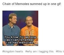 For as long as I can remember I've had memories chain of memories