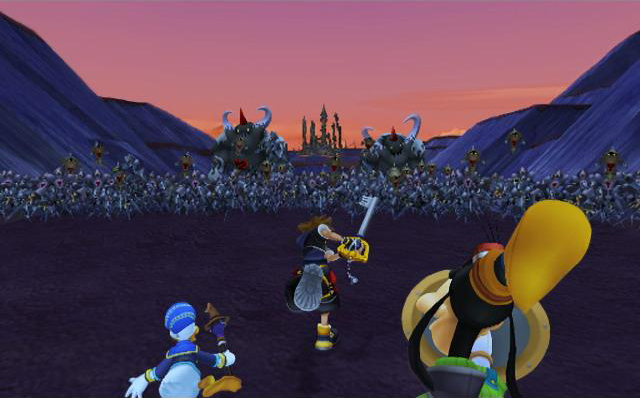 Sora relentless darkness chain of memories battle of 1000 heartless