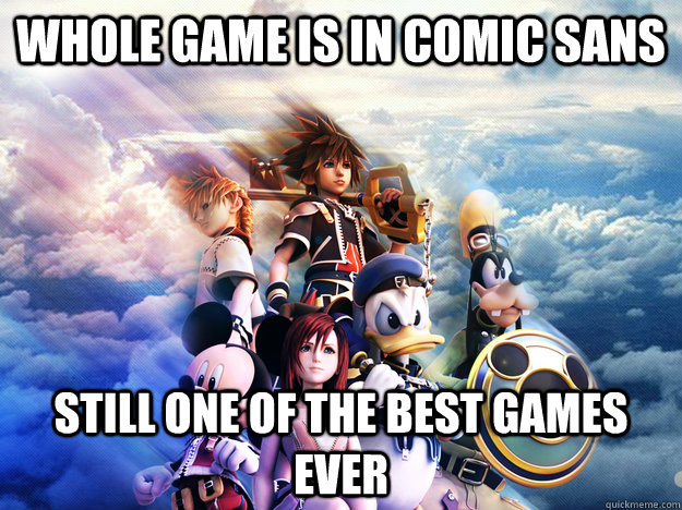 Kingdom Hearts comic sans