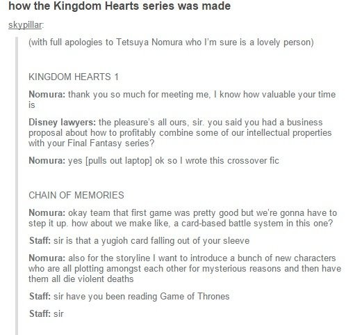 How the Kingdom Hearts series was made fanfic