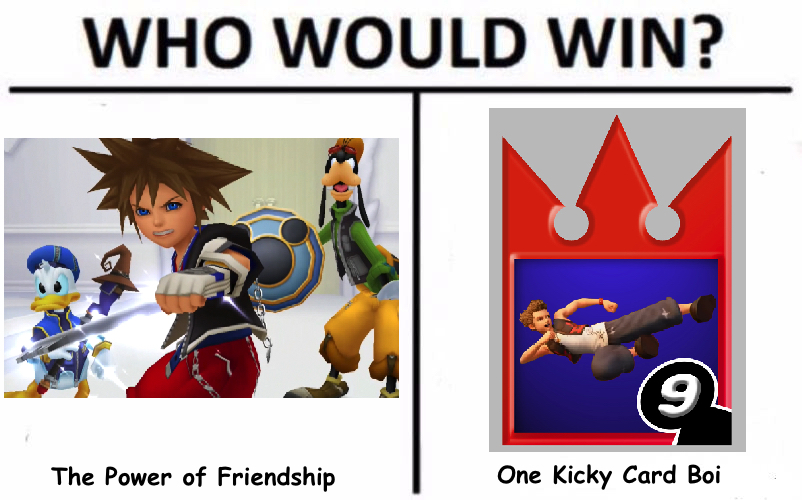Who Would Win the Power of Friendship Sora or Hayner Kicking