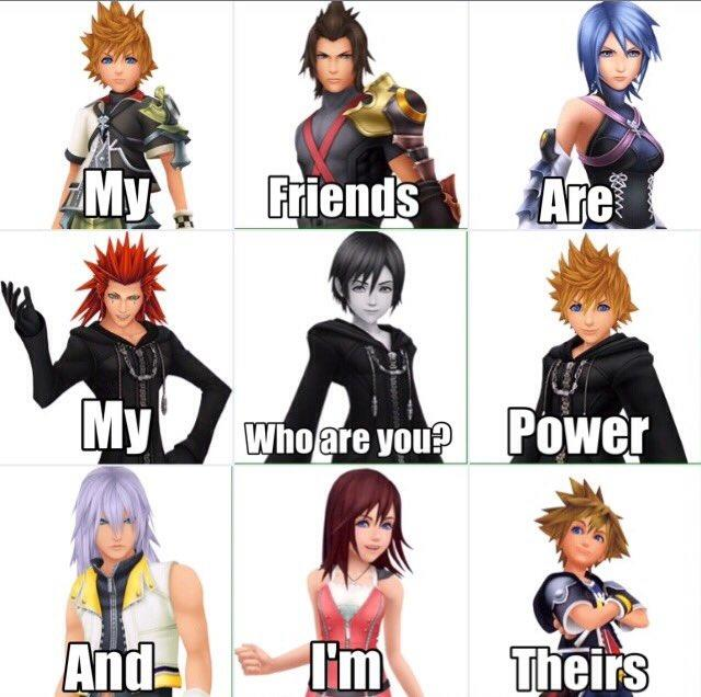 Xion My friends are my power who?