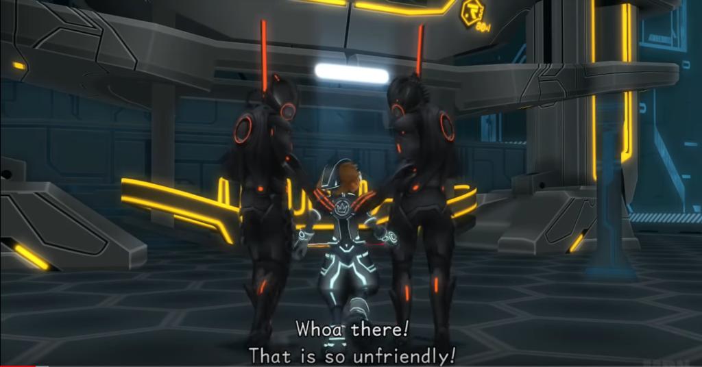 Unfriendly Tron guards Dream Drop Distance with Sora