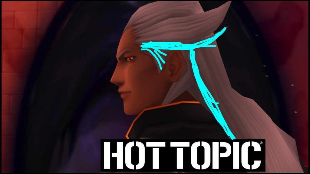 Ansem Dream Drop Distance with blue hair, Hot Topic model