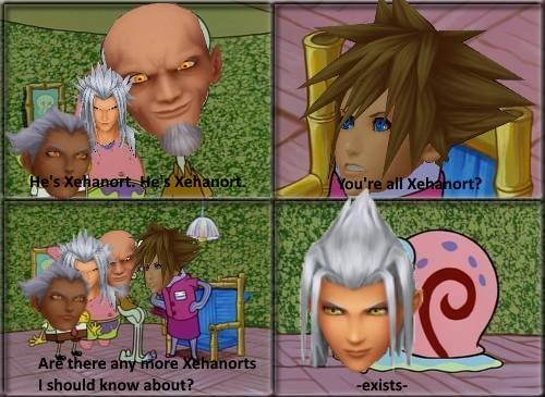 Sora all the Xehanorts spongebob