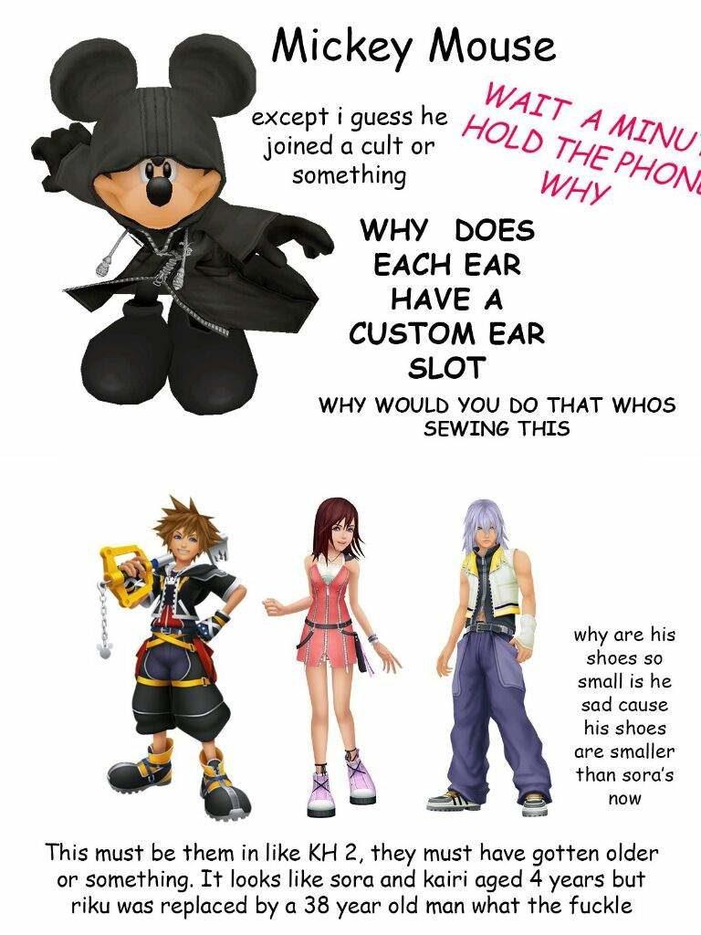 Mickey Kingdom Hearts 2 characters funny recap.