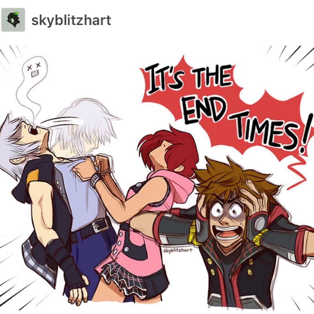 Kingdom Hearts end times comic