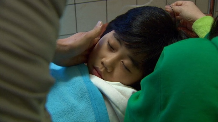 Kang-san sick in Boys Over Flowers episode 14