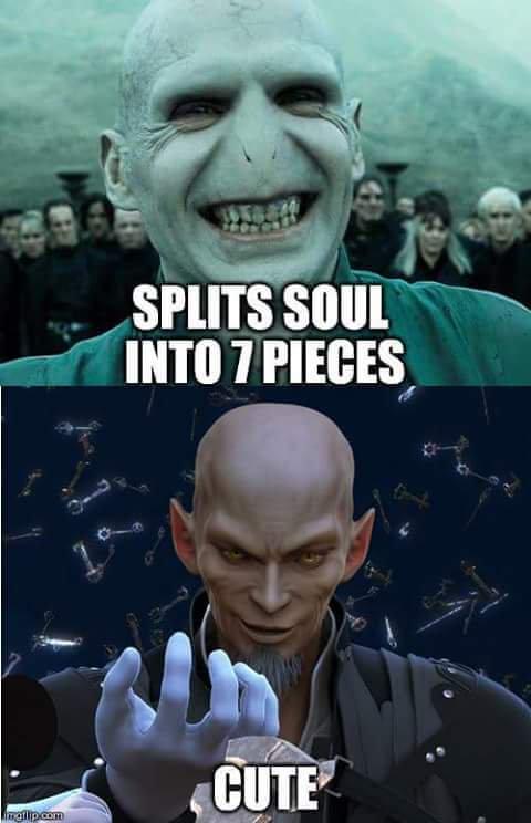 Xehanort Voldemort splitting soul