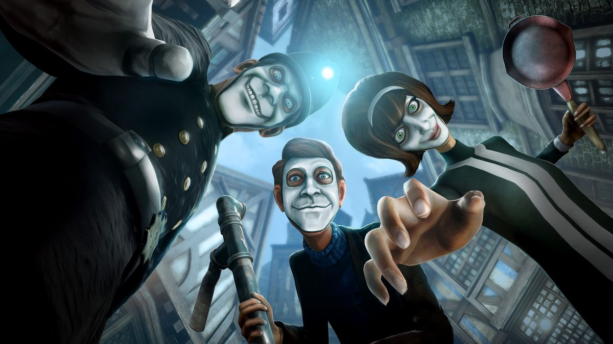 We Happy Few Key Art for full release as discussed on video game podcast