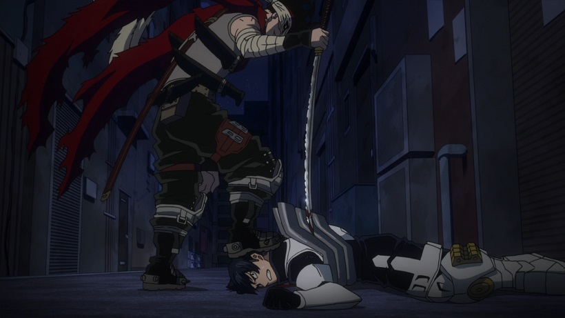 Stain stabbing Iida My Hero Academia episode 15