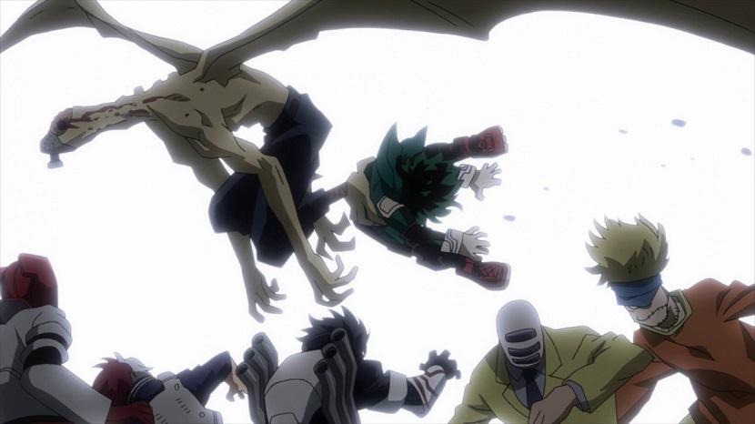 Izuku caught by the Nomu My Hero Academia season 2 episode 17