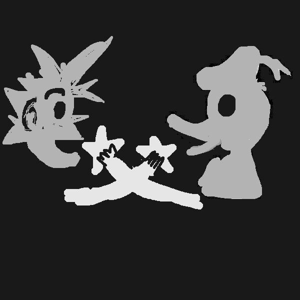 Sora and Donald Paopu fruit drawing