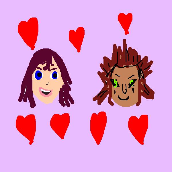 Kairi hearts axel doodle