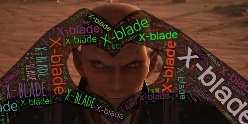 Xehanort heart hands x-blade word art