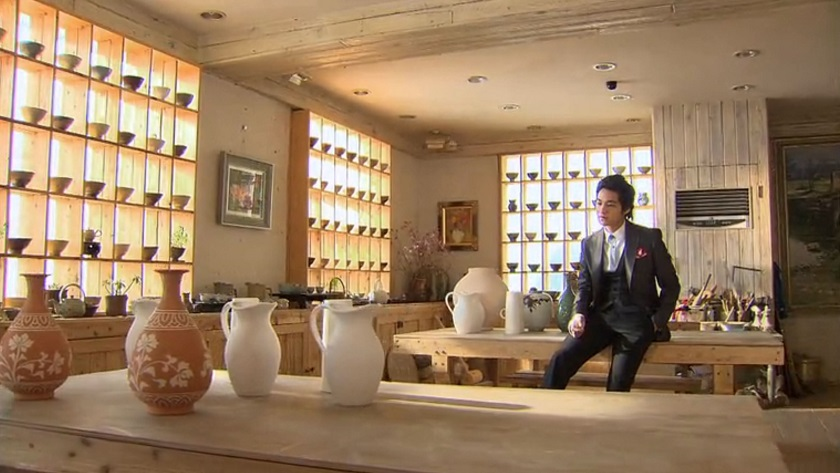 Boys Over Flowers episode 18 Yi-jung alone in pottery studio