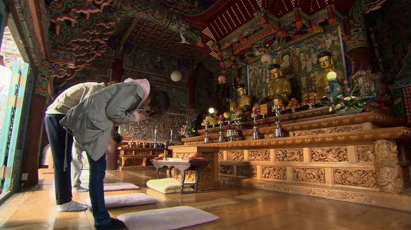 Jan-di and Ji-hoo praying in Boys Over Flowers episode 18