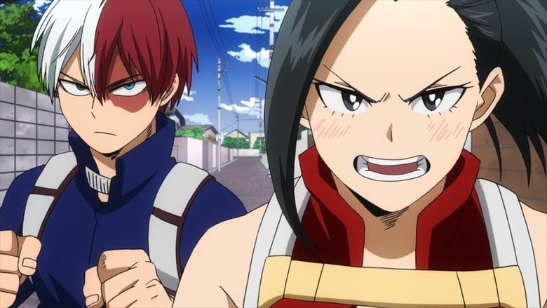 Momo and Todoroki in My hero Academia season 2 episode 22