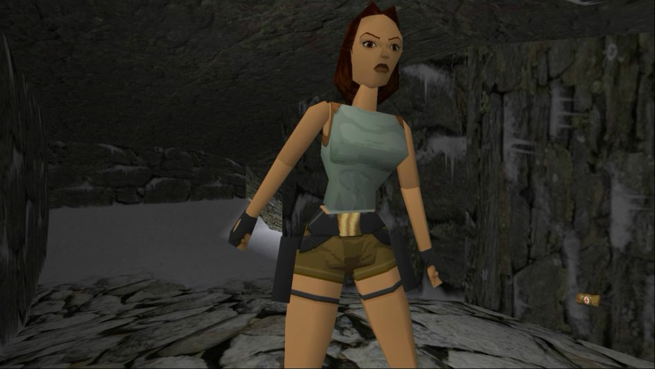 Original Lara Croft design from Tomb Raider