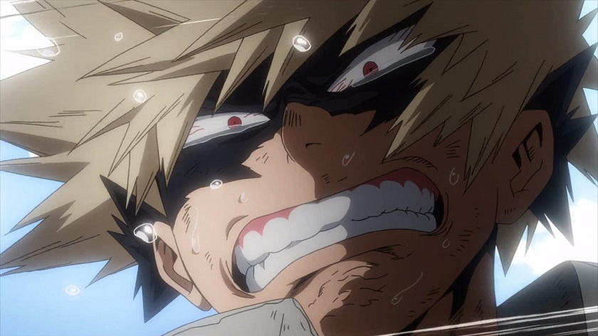 Bakugo crying in My Hero Academia season 2 episode 24