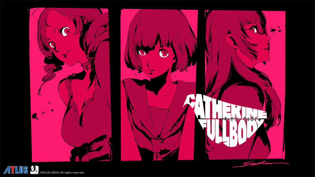 Catherine Full Body promo image featuring the three main girls