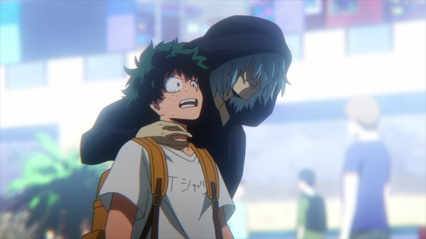 Shigaraki corners Midoriya in My Hero Academia season 2 episode 25