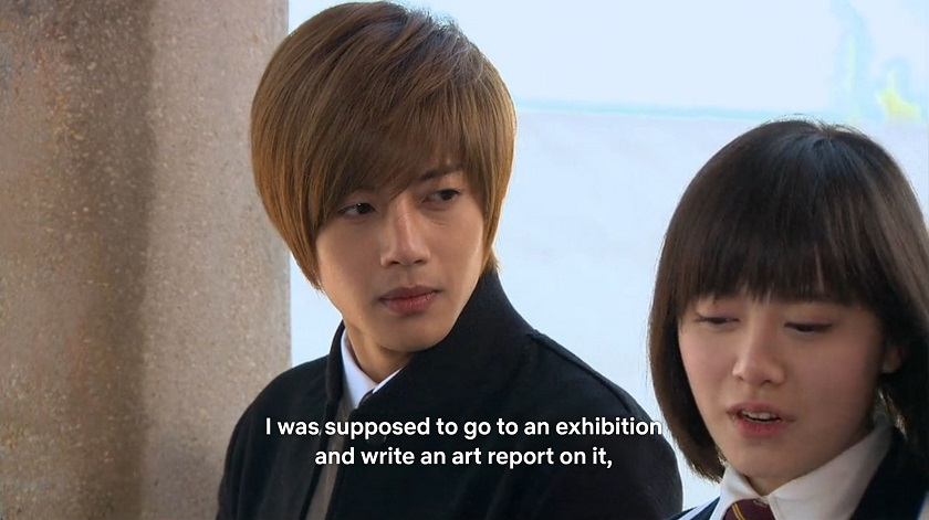 Jan-di talks with Ji-hoo in Boys Over Flowers episode 18