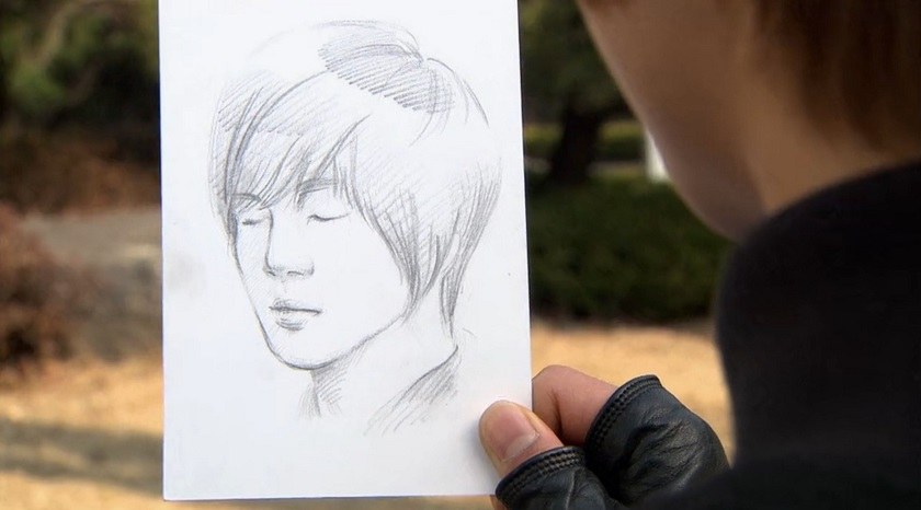 drawing of Ji-hoo in Boys Over Flowers episode 18