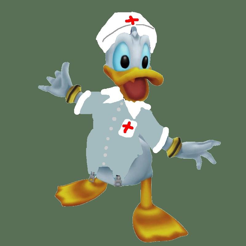 Donald Duck Red Cross