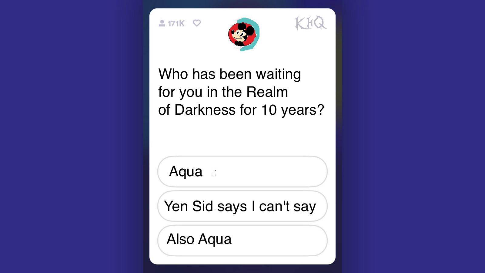 Mickey Mouse Aqua realm of darkness KHQ trivia