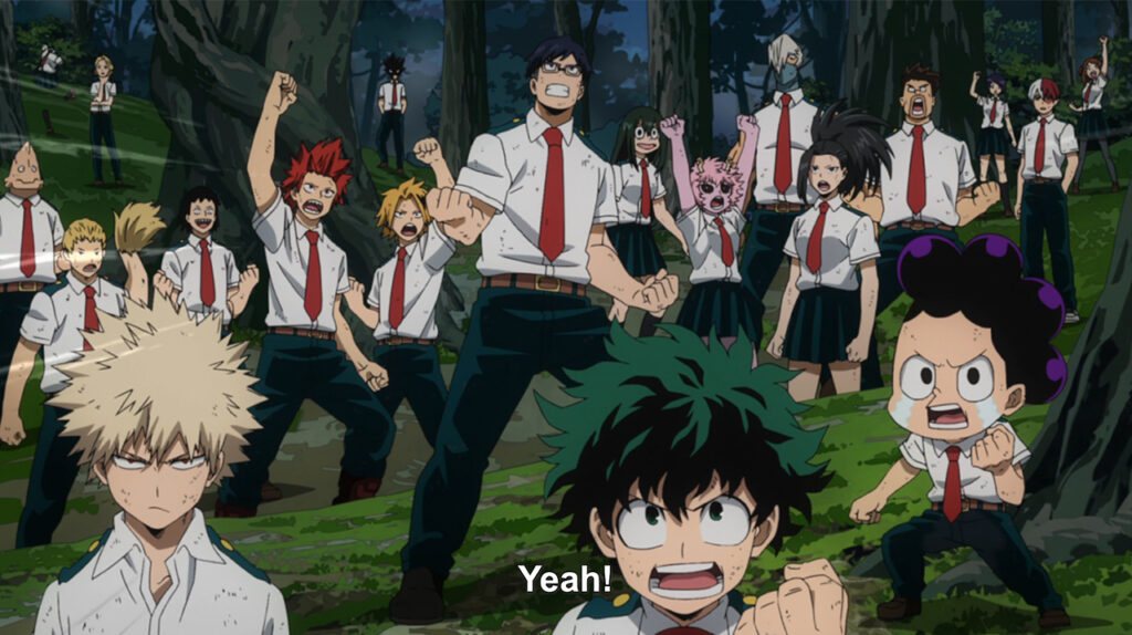 Class 1-A gets hyped in My Hero Academia