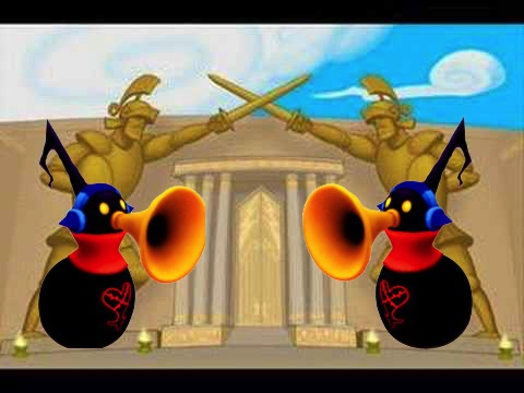 Olympus with the horn-blowing Heartless Kingdom Hearts