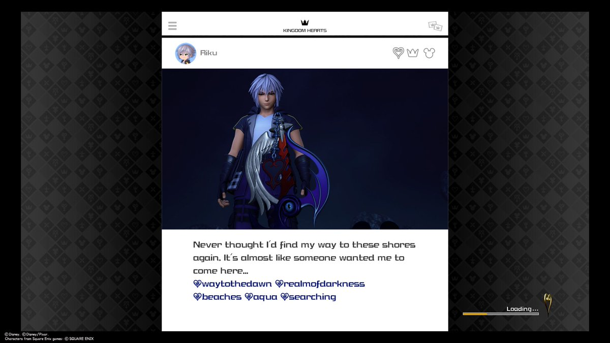 Riku's Keystagram post with his broken keyblade